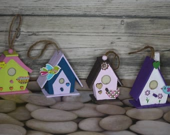 Miniature Ornamental Birdhouses (for indoor and ornamental use only)