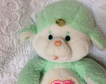 1984 Care Bear Cousin Gentle Heart Lamb - Mint Green - Gently Used