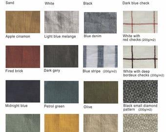 Linen fabrics color card