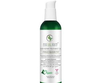 Hibiscus Ayurvedic Oil Hair Repair Treatment Oil; Hair Growth Oil, Hair Repair Oil, Hot Oil Treatment, Hair Oil, Softer, Silkier, shinier