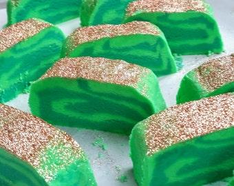 Green Bubble Bars/Bubble Bath/Birthday Gift for Her/Eucalyptus Oil/Aloe Green Tea/More Choices