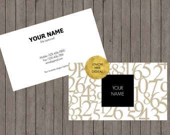 Premade business card, numbers business card, professional, vistaprint, business card design, accountant business card, tax, modern