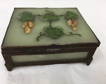 Antique Onyx Trinket Box