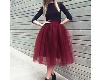 Red tulle skirt!