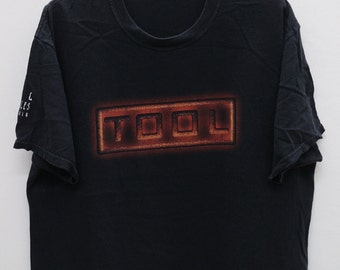 Vintage TOOL Band Black Tee T Shirt Size XL