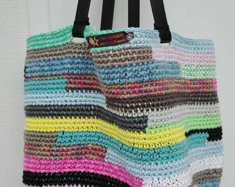 "Bag ""Test image"" bag crochet colorful retro"