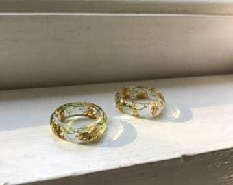 Gold Moss Ring, Plant Ring, Terrarium Ring