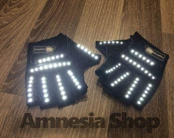 Led Gloves, Rave Gloves, Party Gloves, Led Costumes, Rave Clothing, Rave Wear, Festival Gloves, Rave Outfit, Glowing Gloves, Led Clothing