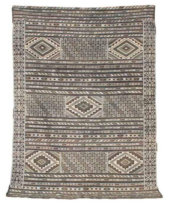 Black And White Rug Kilim Rug Wall Tapestry Moroccan Rug