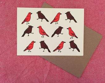 Birds (Orange and Brown), Everyday Card