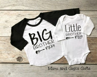 Big Brother and Little Brother shirts: Big Brother Rocks Little Brother Rolls