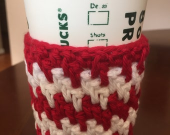 Holiday colors crochet cup cozy
