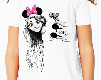 Disney's Tangled: Disneyland Rapunzel Children's T Shirt