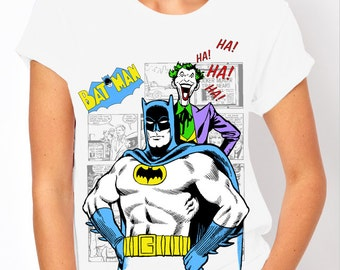 Batman: Classic Batman & Joker Comic Book Women's T Shirt