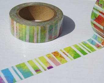 Colourful Modern Abstract Stripes Washi Decorative Tape