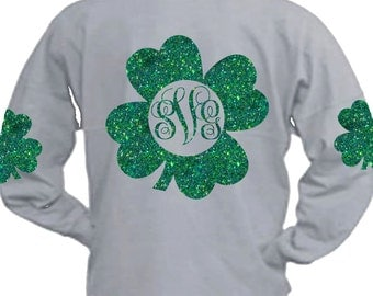 shamrock svg, shamrock monogram svg, st Patrick's day svg, saint patricks, svg, cricut, st patricks day svg, SVG, DXF, Eps, png, elbow patch