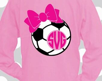 Soccer SVG, Soccer bow, Soccer shirt, Soccer Monogram svg, Soccer dxf, Soccer ball svg, Soccer Cricut, Silhouette, eps, commercial use ok