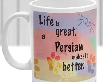 Persian cat mug, Persian cat gift, ideal present for cat lover