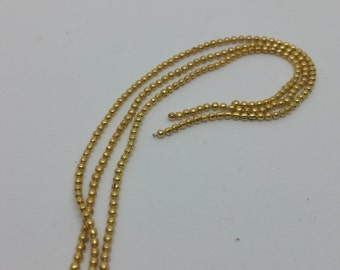 Ball Chain - 12 in (1 foot) - Gold