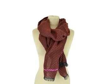 Motif Wax blood orange - Woman's scarf - La Tribu des Oiseaux