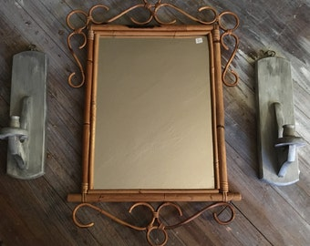 Rattan / Bamboo Mirror