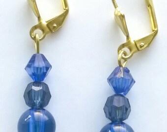 Renetta's Blue Crystal Earrings