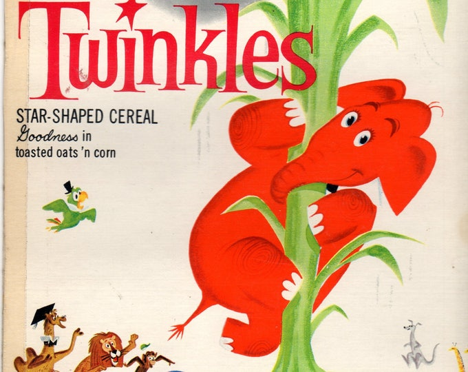 1960's Twinkles General Mills Cereal Box Book Twinkles and the Beanstalk