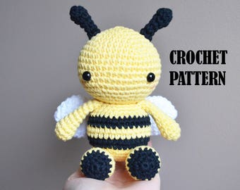 Crochet Amigurumi Pattern: Fern the Bumble Bee, Stuffed Toy, Plush, Stuffed Animal