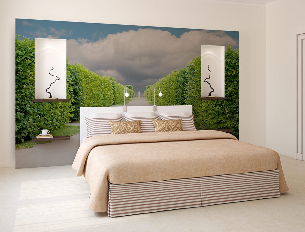Removable Wall Coverings Garden Wall Mural Photo Wallpaper