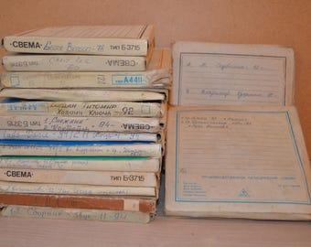 Lot of 15 used reel tu reel tapes from USSR n14