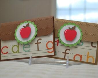 Teacher Gift Card Holder - Pop-Up Gift Card Holder - Teacher Appreciation Gift Card Holders - Teacher Thank You Card