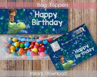 The Good Dinosaur Bags Topper The Good Dinosaur Party Favors The Goot Dinosaur Treat Bag Toppers Birthday Party INSTANT DOWNLOAD