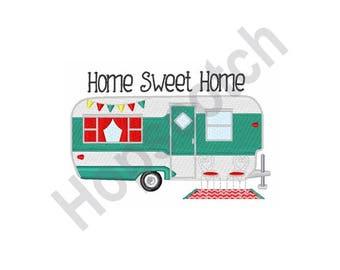 Camper Home - Machine Embroidery Design