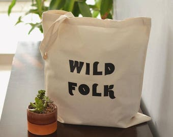 Wild Folk Tote Bag // Tote Bag // Reusable Bag // Tote Bags // Wild Folk Bag