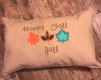 Happy Fall Yall throw pillow