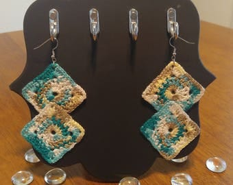 Crochet Diamond Earring - Sea Dream