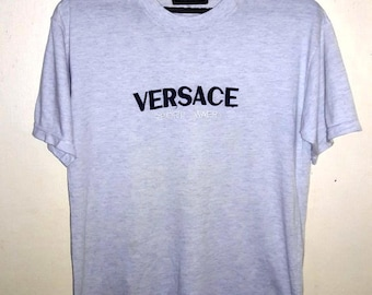 FREE SHIPPING vintage 90's Versace Sports Tees medium size
