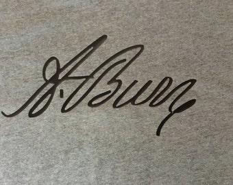 A. BURR signature shirt