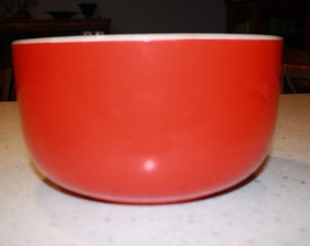 Large Hall's Vintage Mixing bowl Red Straight sided