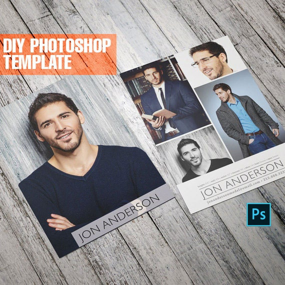 diy professional model comp card zed card for models and