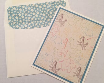 4 Handcrafted Stationery Note Cards with Envelopes NC021