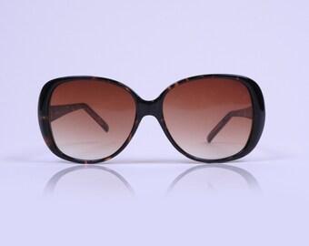Vintage Oversized Round Tortoise Brown Sunglasses
