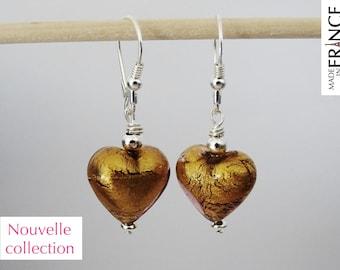 Cupid gold Amethyst earrings