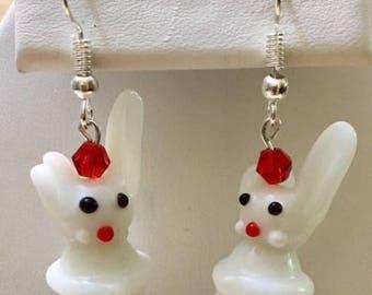 Glass Rabbit Earrings