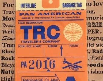 Traveler's Note 2016 PAN AM Limited Plastic Sheet Passport Size 40217006 Traveler's Factory Midori Designphil