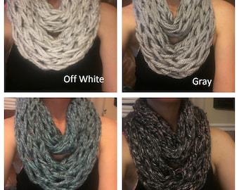 Knit Scarf // Chunky Knit Scarf // Arm knit scarf // Infinity Scarf // Chunky Cowl // Circle Scarf