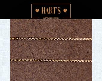 Minimalist 14K Gold Cable 1.1 mm Plain Chain Necklace