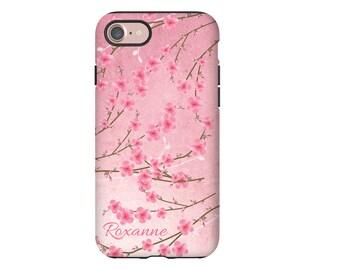 Cherry Blossoms iPhone 7 case, sakura iPhone 7 Plus case, cherry blossoms iphone SE/6s/6s Plus/6/6 Plus cases, personalized iPhone case