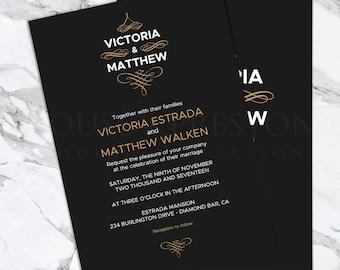 Monaco Wedding Invitations, Luxury Wedding Stationery Set