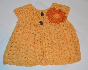 0 - 6 Months Girls' Yellow Cardigan